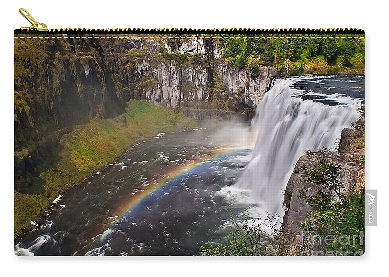Waterfalls Carry-all Pouch featuring the photograph Mesa Falls by Robert Bales