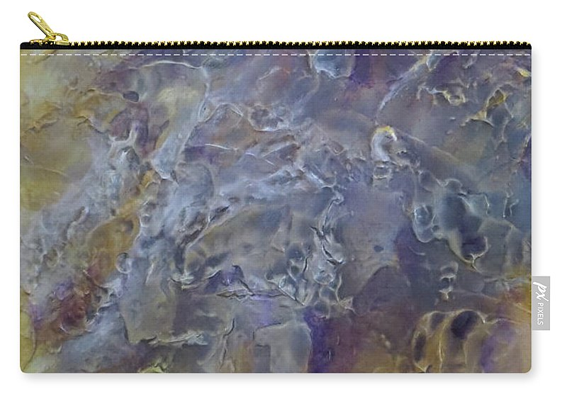 Abstract Carry-all Pouch featuring the painting Mesmerizing by Soraya Silvestri
