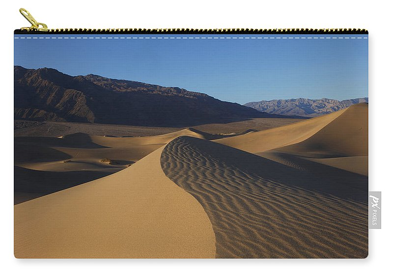 Death Valley Carry-all Pouch featuring the photograph Mesquite Dunes Death Valley 1 by Susan Rovira