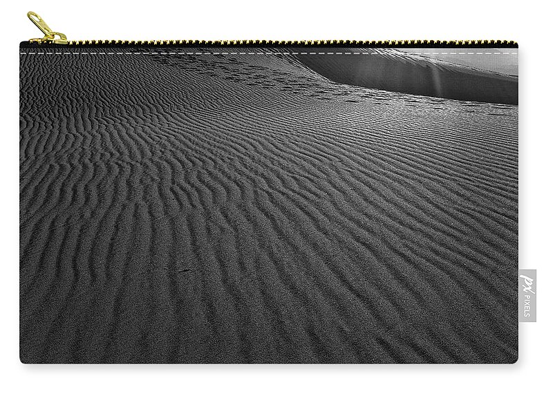 Mesquite Sand Dunes Carry-all Pouch featuring the photograph Mesquite Sand Dunes by Angela Stanton