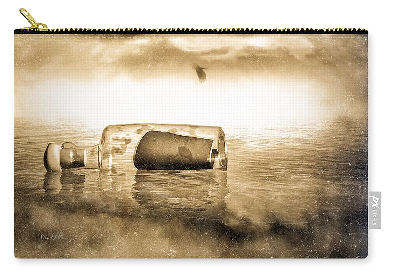 Seascape Carry-all Pouch featuring the photograph Message In A Bottle by Bob Orsillo
