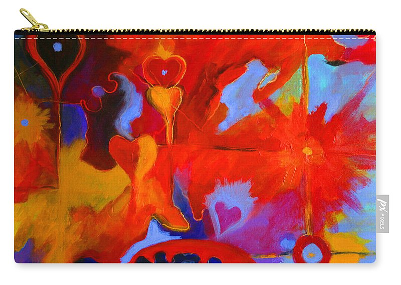 Abstract Carry-all Pouch featuring the painting Message Of Love by Alison Caltrider