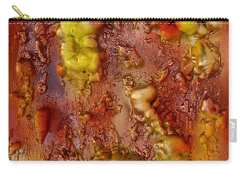 Abstract Paintings Carry-all Pouch featuring the painting Metallic Fantasy by Julia Apostolova