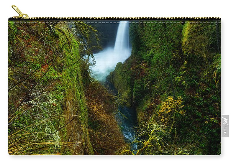Lush Carry-all Pouch featuring the photograph Metlako Falls by Darren White