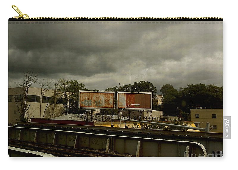 New York Carry-all Pouch featuring the photograph Metropolitan Transit by Miriam Danar