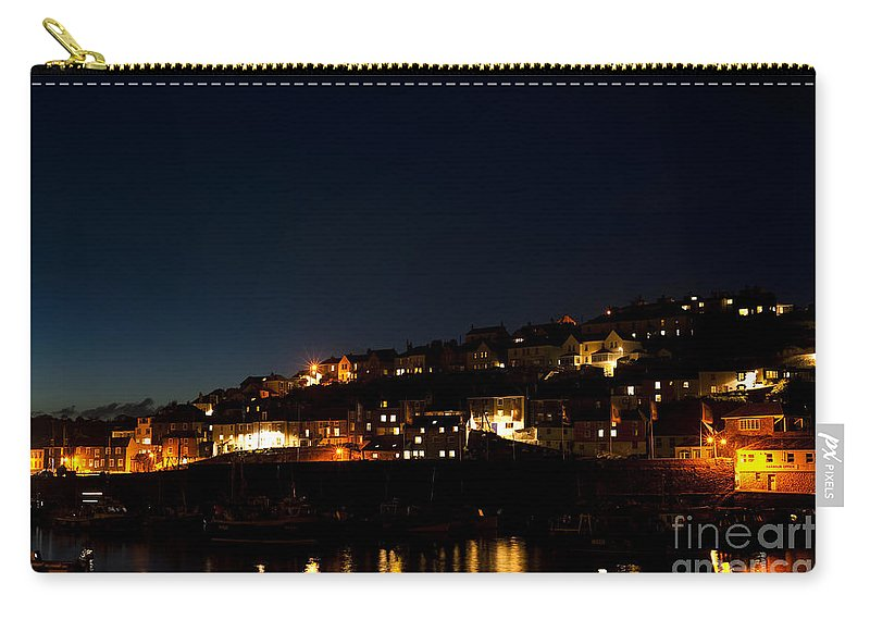 Autumn Carry-all Pouch featuring the photograph Mevagissy Nights by Anne Gilbert
