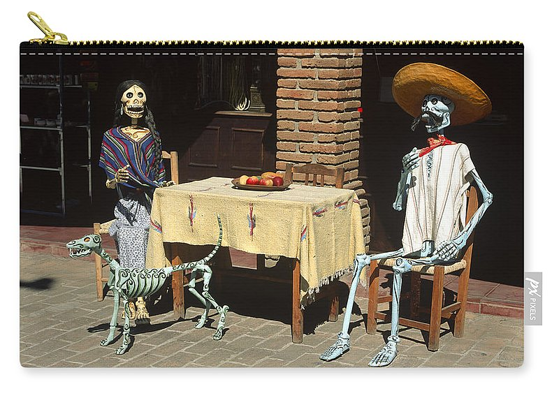 Americas Carry-all Pouch featuring the photograph Mexican Antique Family by Roderick Bley