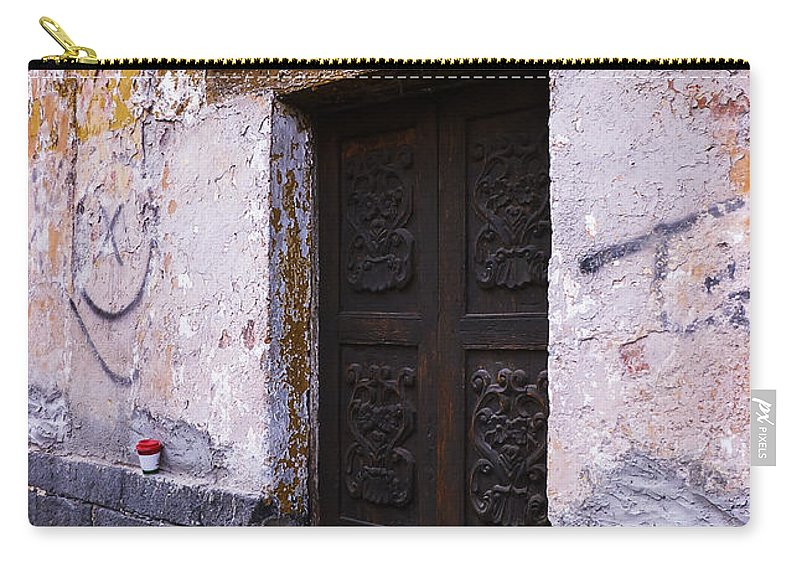 Door Carry-all Pouch featuring the photograph Mexican Door 34 by Xueling Zou