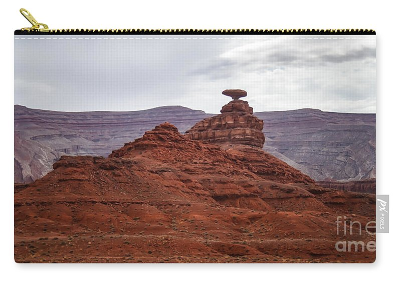 Valley Of The Gods Carry-all Pouch featuring the photograph Mexican Hat by Robert Bales