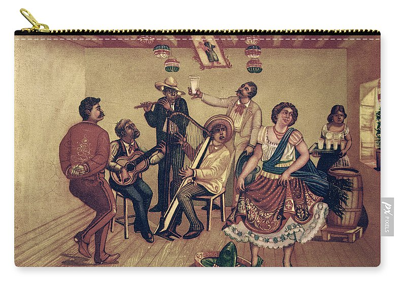 20th Century Carry-all Pouch featuring the photograph Mexico: Hat Dance by Granger