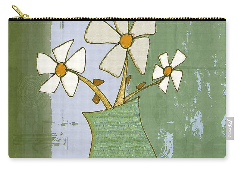 Flowers Carry-all Pouch featuring the drawing Mgl - Flowers 09 by MGL Meiklejohn Graphics Licensing