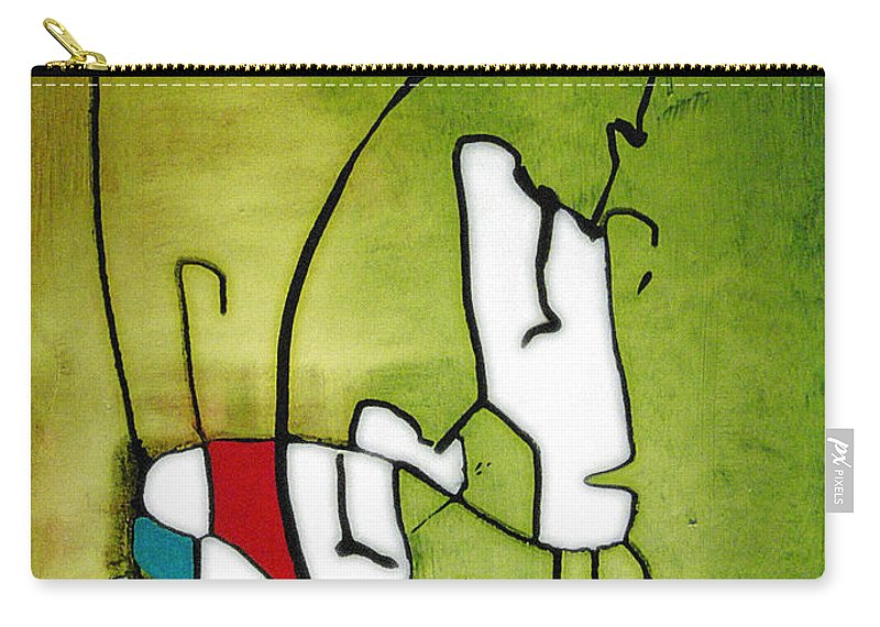 Painting Carry-all Pouch featuring the painting Mi Caballo 2 by Jeff Barrett