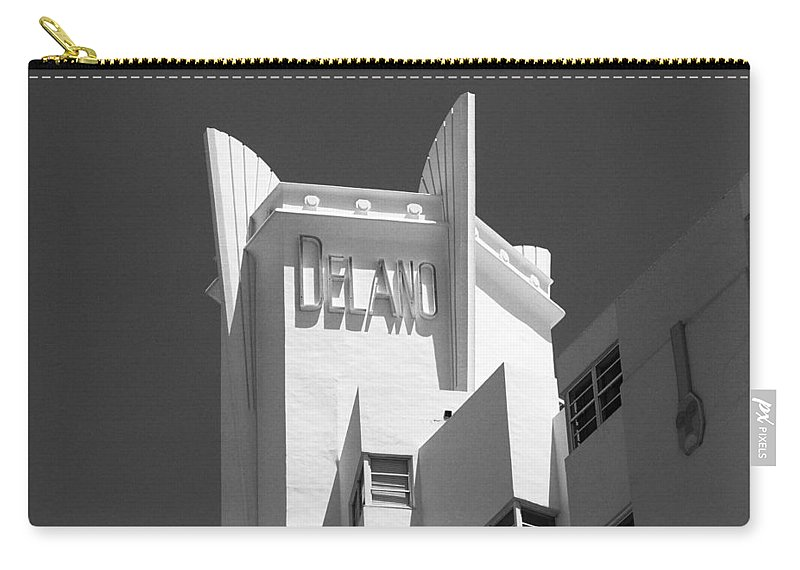 America Carry-all Pouch featuring the photograph Miami Beach - Art Deco 23 by Frank Romeo