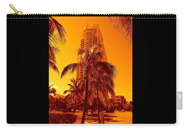 City Usa Prints Carry-all Pouch featuring the photograph Miami South Pointe Iv by Monique's Fine Art