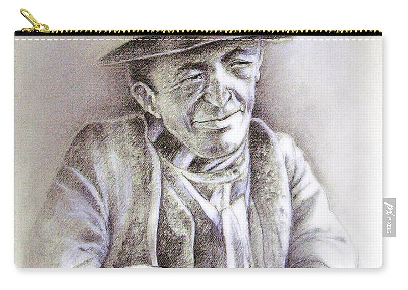 Portrait Michael Anderson Carry-all Pouch featuring the painting Michael J Anderson by Miki De Goodaboom