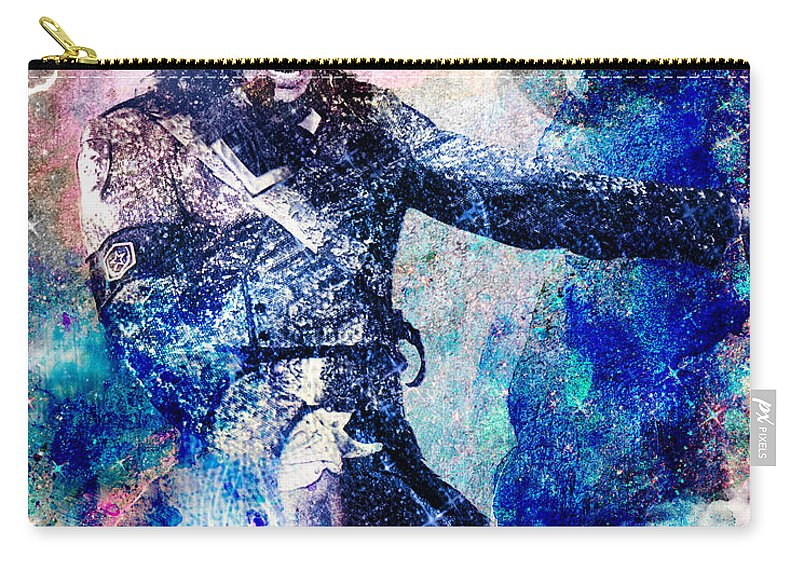 Rock Carry-all Pouch featuring the painting Michael Jackson Original Painting by Ryan Rock Artist