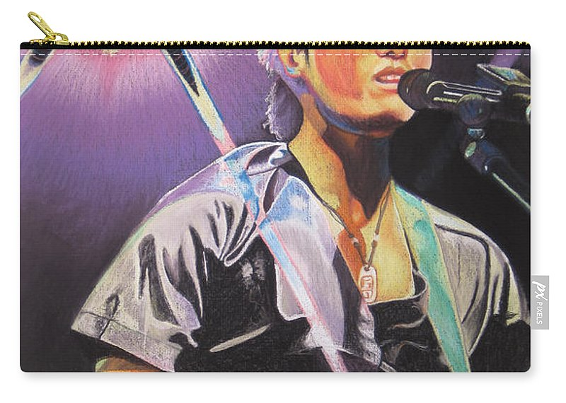 Michael Kang Carry-all Pouch featuring the drawing Micheal Kang by Joshua Morton
