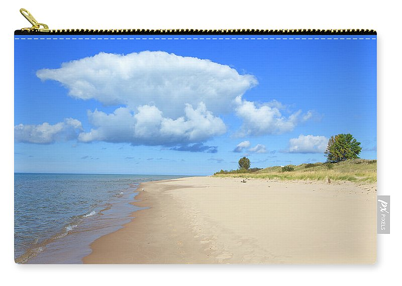 Lake Michigan Carry-all Pouch featuring the photograph Michigan Lake Shore by Espiegle
