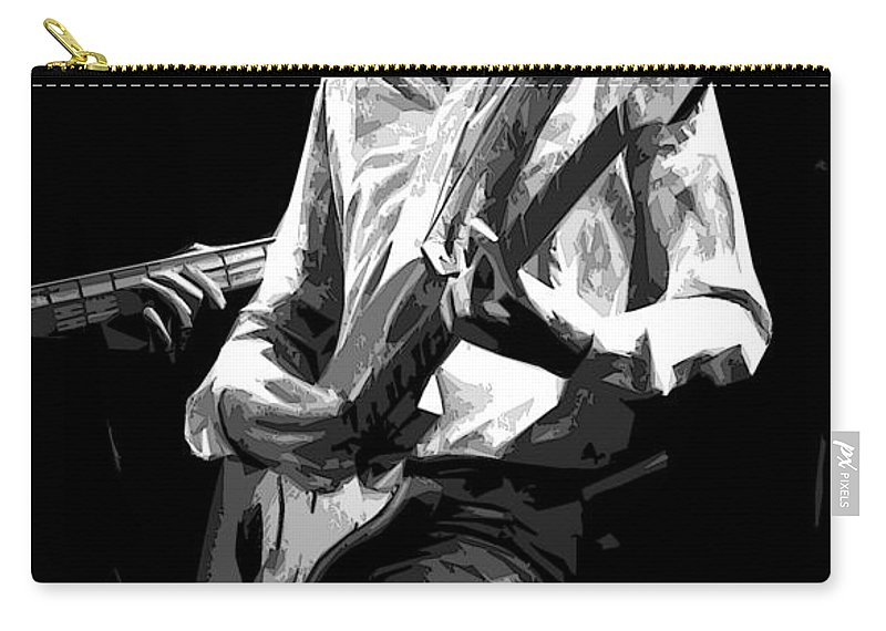 Mick Ralphs Carry-all Pouch featuring the photograph Mick 1977 Art Bw by Ben Upham
