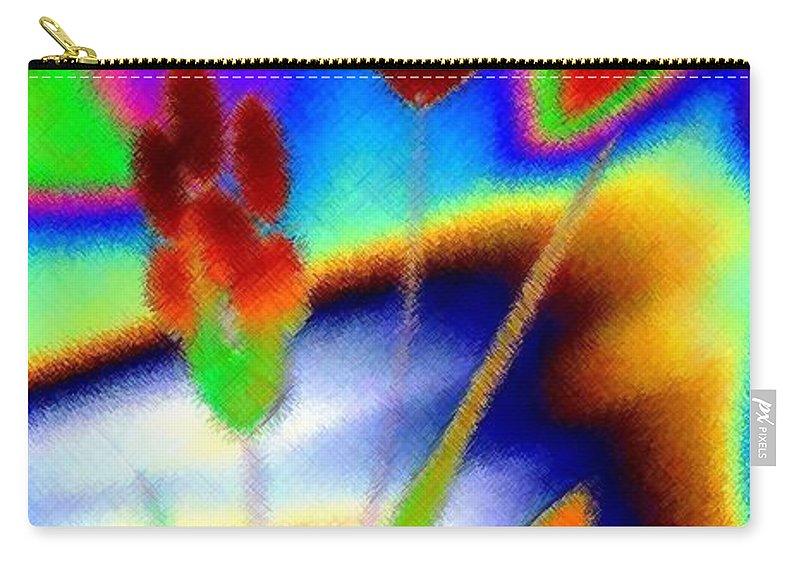 Micro Linear Carry-all Pouch featuring the digital art Micro Linear 37 by Will Borden