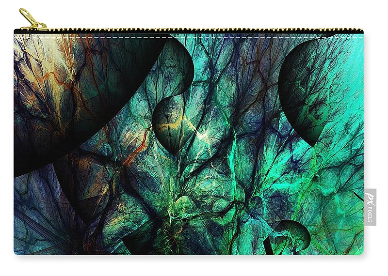 Fine Art Carry-all Pouch featuring the digital art Microcosm by David Lane