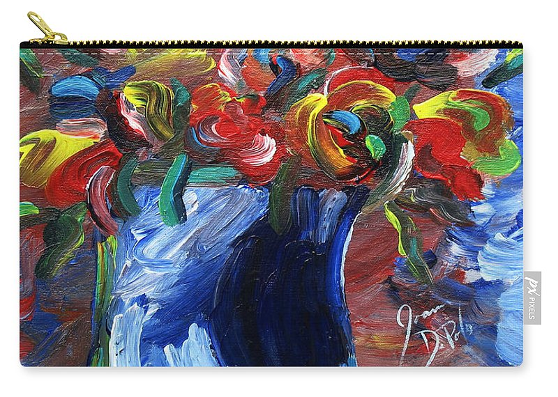 Flowers Carry-all Pouch featuring the painting Midday by JoAnn DePolo