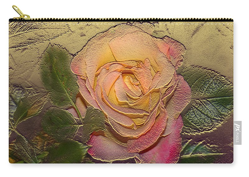 Rose Carry-all Pouch featuring the digital art Midas Rose by Steve Karol