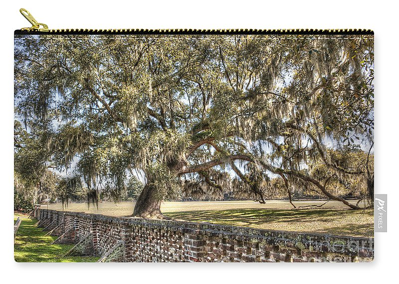 Middleton Carry-all Pouch featuring the photograph Middleton Brick Wall by Dale Powell