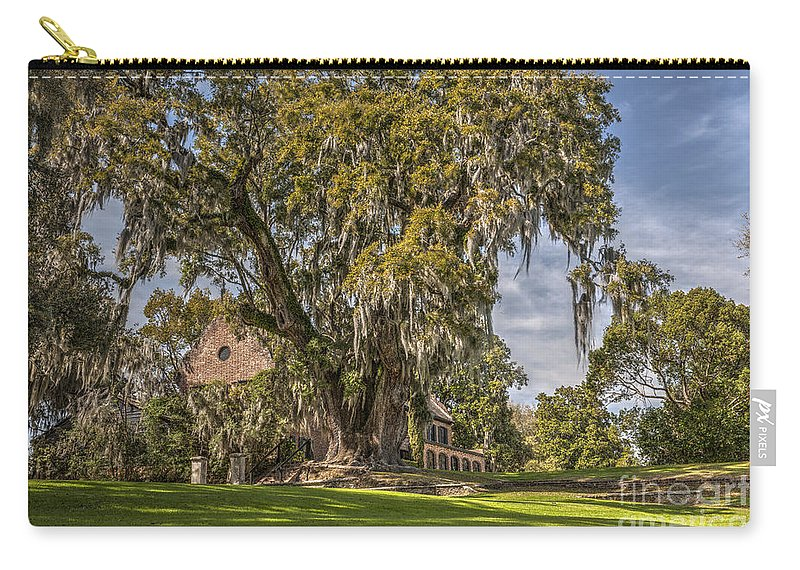 Middleton Place Carry-all Pouch featuring the photograph Historic Middleton Place by Dale Powell