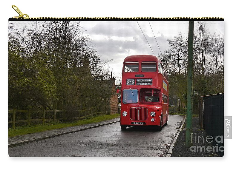 Bus Carry-all Pouch featuring the photograph Midland Red Bus by John Chatterley