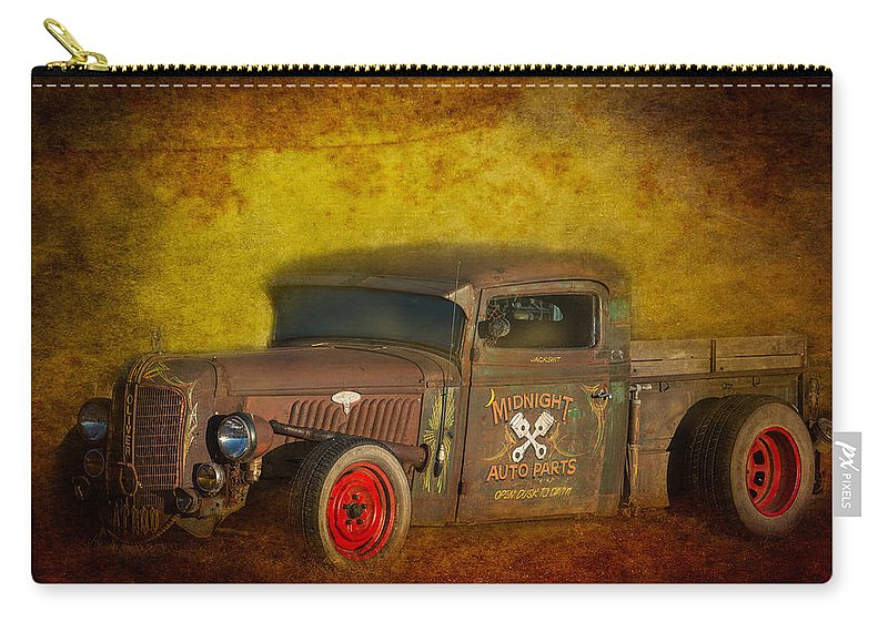 Old Carry-all Pouch featuring the photograph Midnight Auto Parts by Paul Freidlund