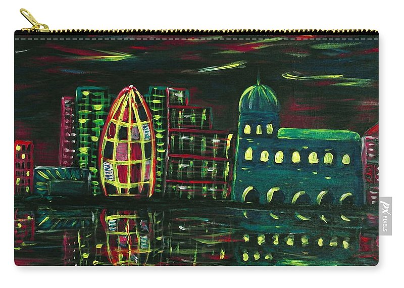 Malakhova Carry-all Pouch featuring the painting Midnight City by Anastasiya Malakhova