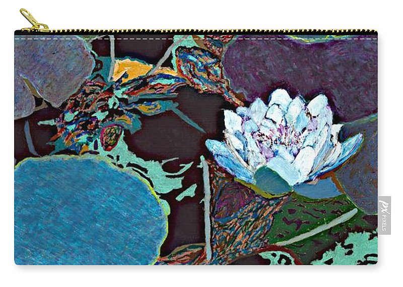 Landscape Carry-all Pouch featuring the painting Midnight Moonglow by Allan P Friedlander