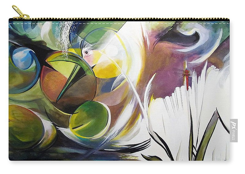 Bayou Carry-all Pouch featuring the painting Midnight On The Bayou by John Duplantis