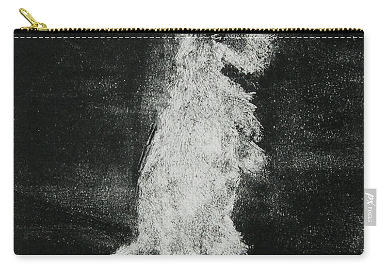Monotype Carry-all Pouch featuring the mixed media Midnight Sonata by Cori Solomon