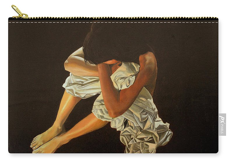 Figure Carry-all Pouch featuring the painting Midnight by Thu Nguyen