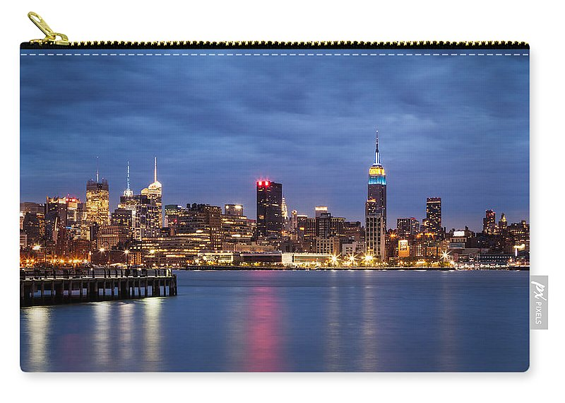 16:9 Carry-all Pouch featuring the photograph Midtown Manhattan by Mihai Andritoiu