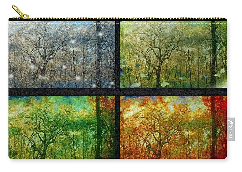 Collage Carry-all Pouch featuring the photograph Midwest Seasons Collage by Ellen Cannon