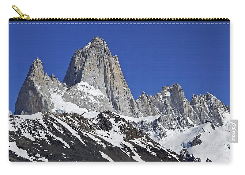 Argentina Carry-all Pouch featuring the photograph Mighty Mount Fitz Roy by Michele Burgess