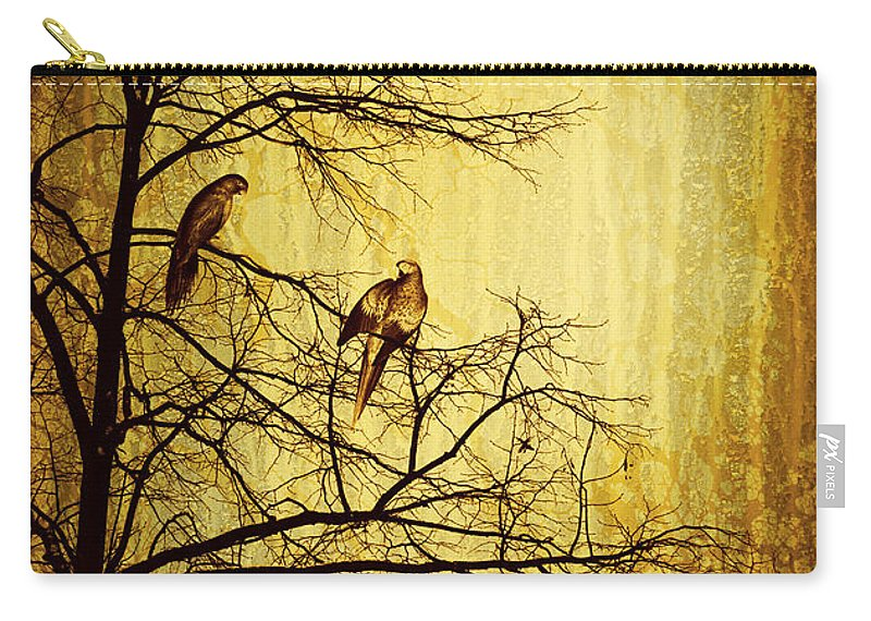 Yellow Carry-all Pouch featuring the photograph Migratory by Lourry Legarde