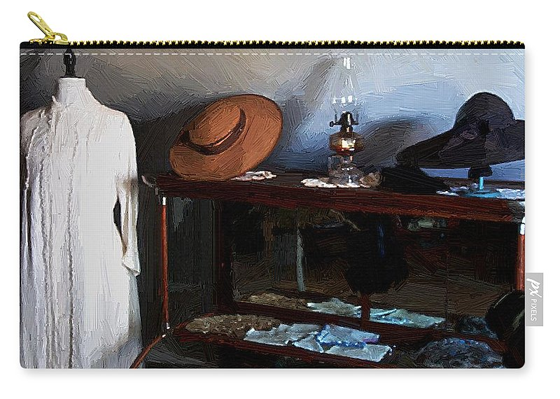 Fashion Carry-all Pouch featuring the painting Milady's Finery by RC DeWinter