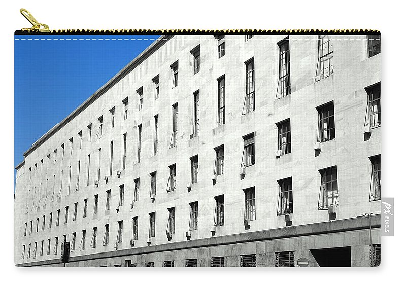 Milan Carry-all Pouch featuring the photograph Milan Courthouse Building by Valentino Visentini