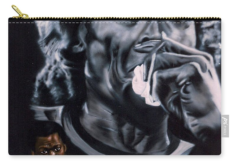 Celebrities Carry-all Pouch featuring the painting More Miles Of Davis by Thomas J Herring