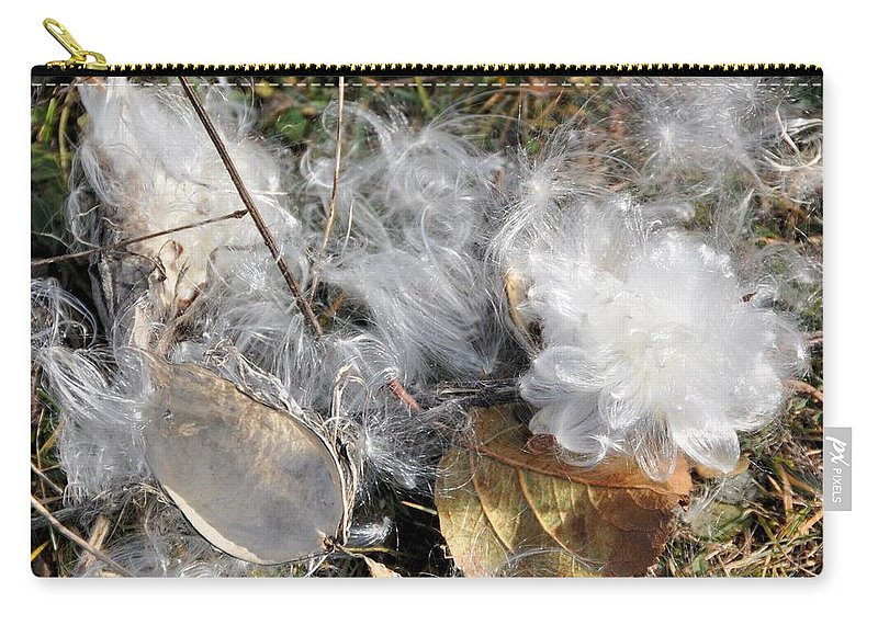 Milkweed Carry-all Pouch featuring the photograph Milkweed Landing by Valerie Kirkwood