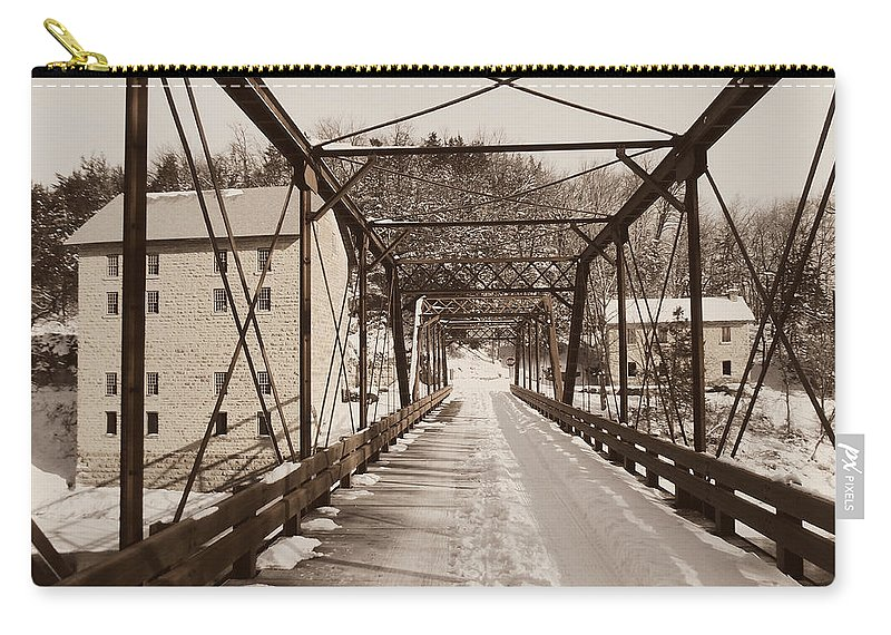 Motor Mill Carry-all Pouch featuring the photograph Mill Bridge by Bonfire Photography