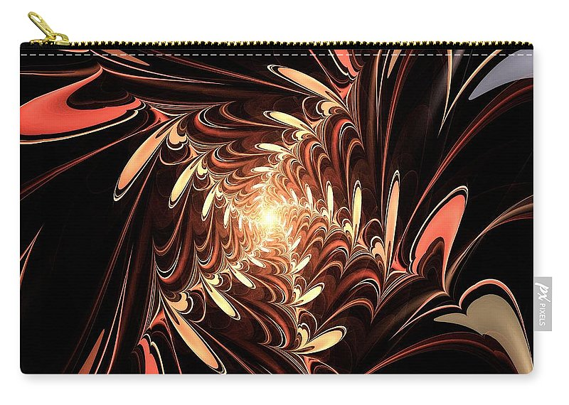 Computer Carry-all Pouch featuring the digital art Million Hearts by Anastasiya Malakhova
