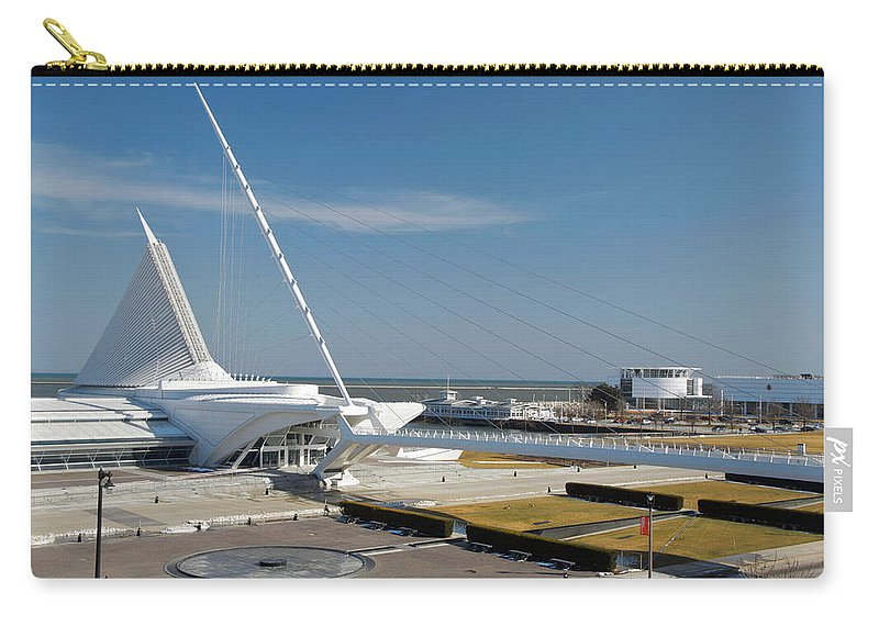 Santiago Calatrava Carry-all Pouch featuring the photograph Milwaukee Art Museum by Jonah Anderson