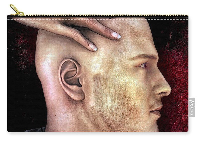 Social Carry-all Pouch featuring the digital art Mind Control by Bob Orsillo