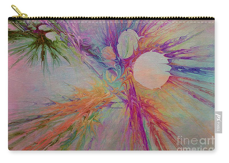 Abstract Carry-all Pouch featuring the digital art Mind Energy Aura by Deborah Benoit
