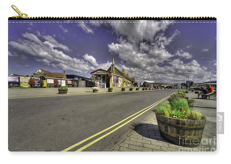 Minehead Carry-all Pouch featuring the photograph Minehead Station by Rob Hawkins
